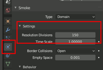 Blender Smoke Voxel Resolution Divisions