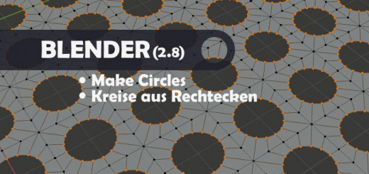 Blender 2.8 Make Circles
