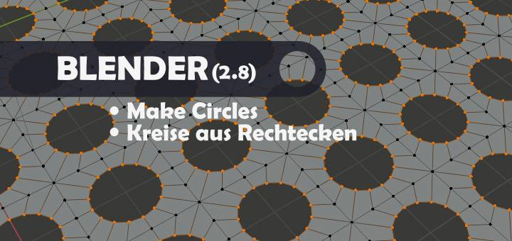 Blender 2.8 Make Circles