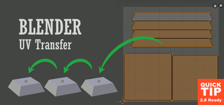 Blender Transfer UV Maps
