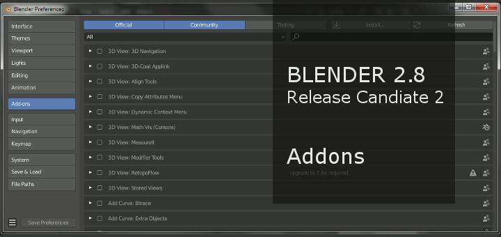 Blender 2.8 Addons