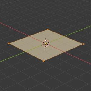 Blender 2.8 simple Plane