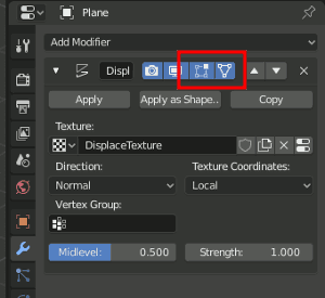 Displacement visible in Edit-Mode