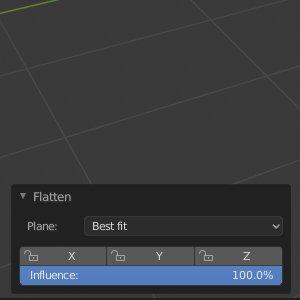 Blender Flatten Influence