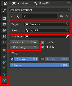 Bone Constraint Settings