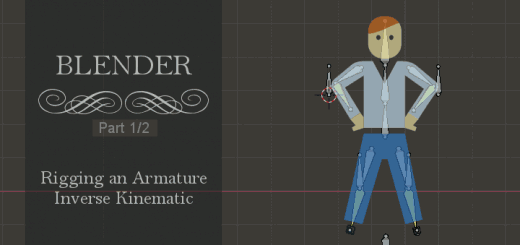 Blender 2.8 Rigging Inverse Kinematic 1