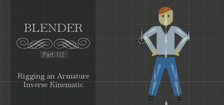 Blender 2.8 Rigging Inverse Kinematic 1