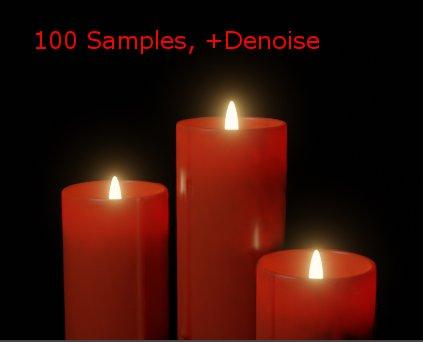 100 Samples plus Denoising