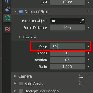 Blender 2.8 DOF - F-Stop