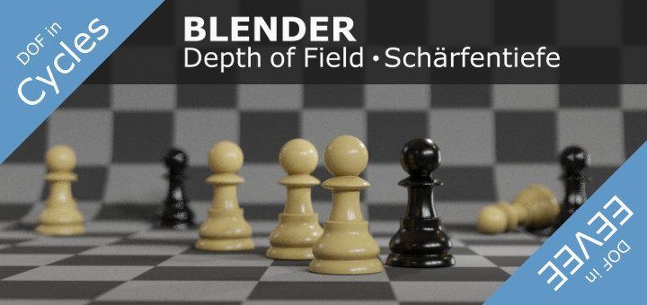 Blender 2.8 Depth of Field
