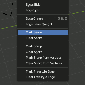 Blender 2.8 Mark Seam
