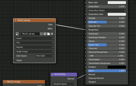 Blender 2.8 Roughness Node