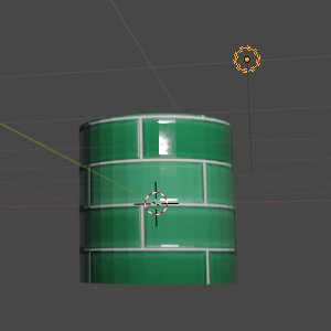 Cylinder mit Material