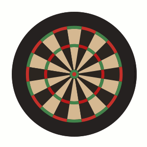 Inkscape Dart Board without Wires