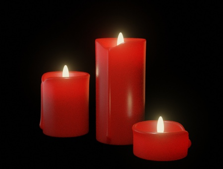 Blender Candle Example