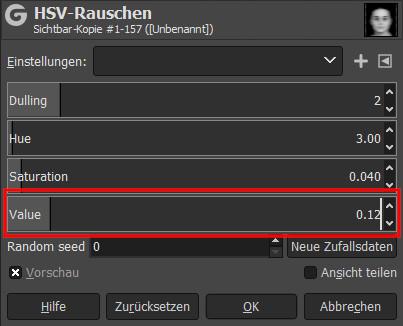Gimp - HSV-Rauschen