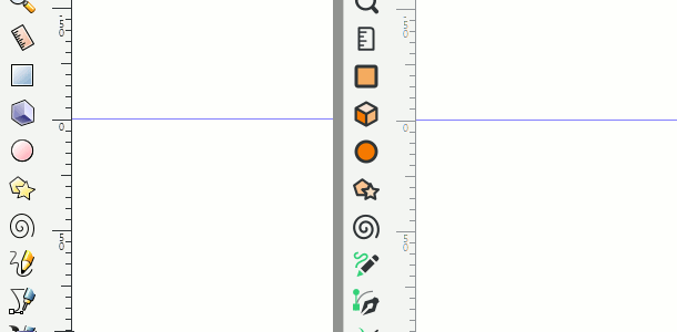 System Icons vs multicolor Icons