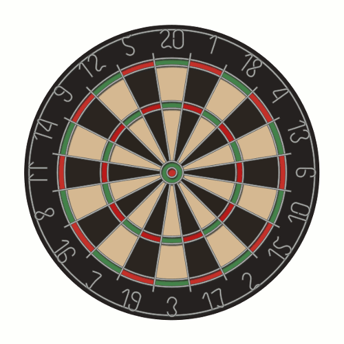 Finished Inkscape Vector Dart Board