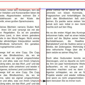 Seite, zwei Spalten mit Blindtext