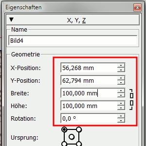 Fenster - Eigenschaften (F2-Taste)