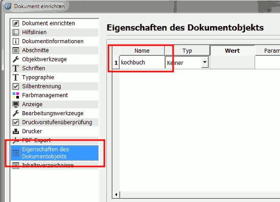 Name - Kochbuch