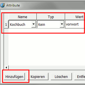 Attribut für Textrahmen