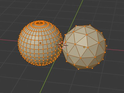 UV-Sphere vs Icosphere