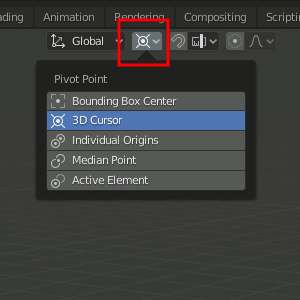 3D Cursor as Pivot