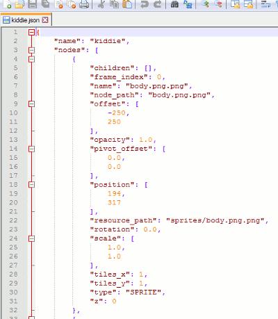 Inhalt der JSON-Datei