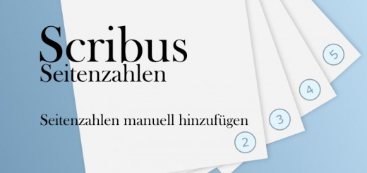 Scribus Seitenzahlen manuell
