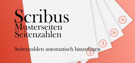 Scribus Musterseiten + Seitenzahlen