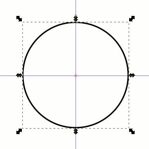 Kreis im Zentrum