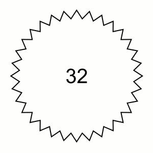 Sternform 32 Ecken