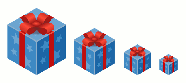 isometric XMAS Gift In Inkscape