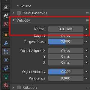 Velocity- Normal reduzieren