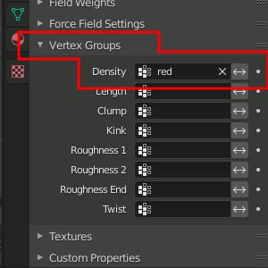 Vertex Group bestimmen