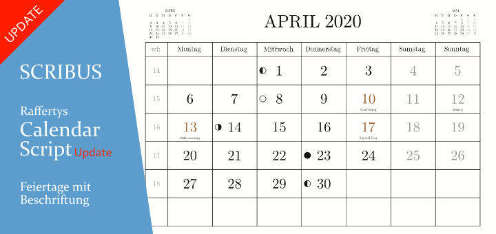 Raffertys Scribus Monthly Calendar Script