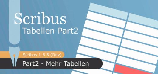 Tabellen in Scribus 1.5.5