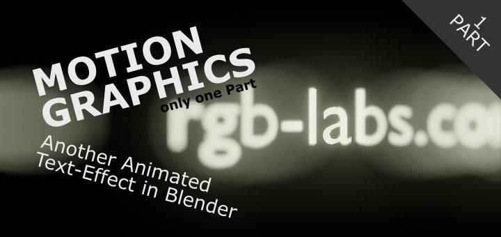Motion Graphics in Blender