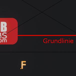 Buchstabe F außerhalb von Bild