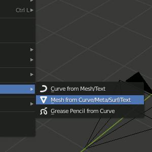 Text Object konvertieren