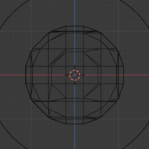 Metaball in der WireFrame-Ansicht