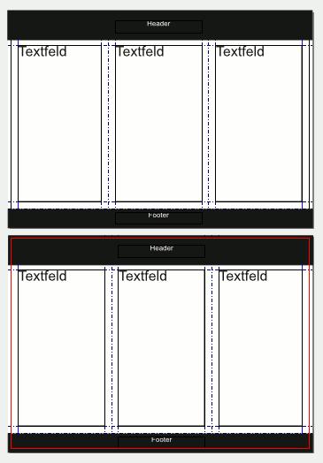 Einfaches Flyer-Layout