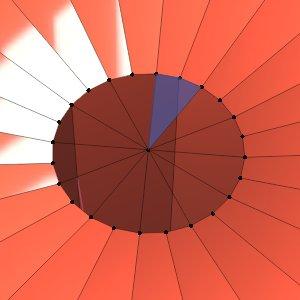 Jeweils 4 Vertices mit Faces füllen