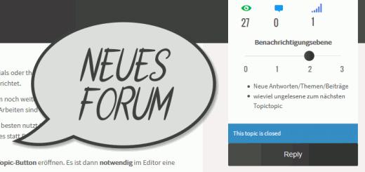 Neues Diskussionsforum