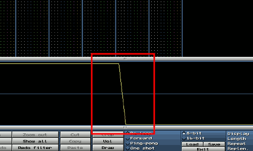 Waveform im Sample-Editor