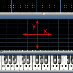 x- und y-Achse im Editor