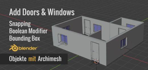 Blender Archimesh & Boolean