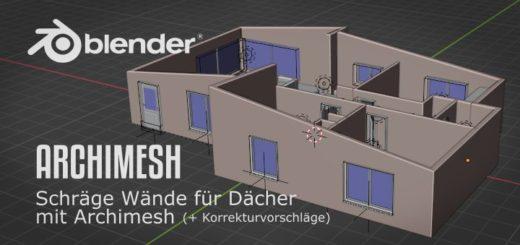 Schräge Wände mit Archimesh