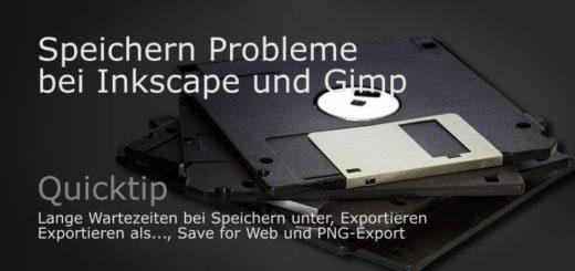 Speichern Probleme bei Inkscape und Gimp